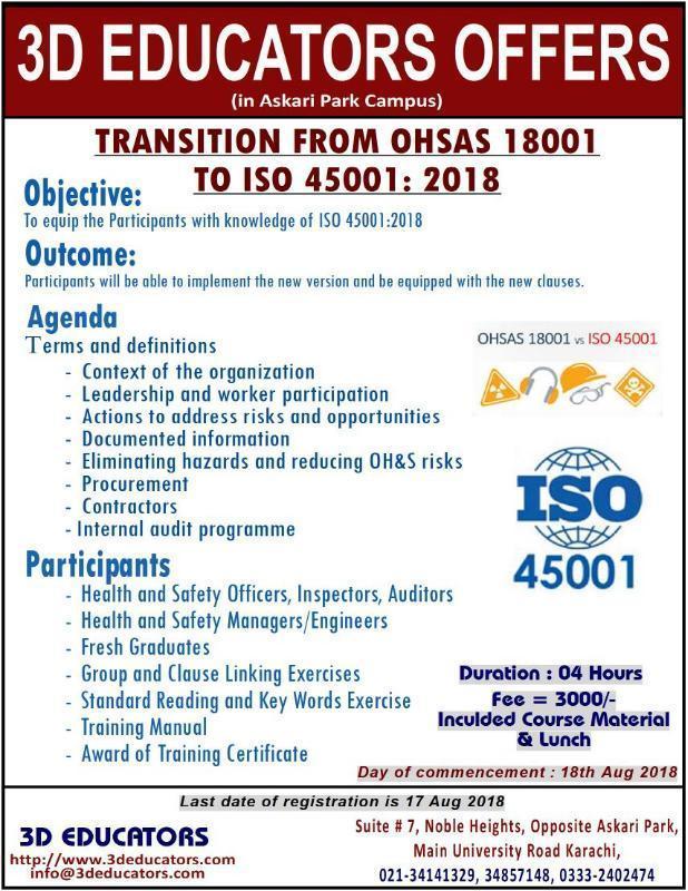 ISO 45001 / OHSAS 18001 Lead Auditor Training Program In