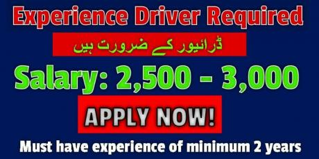 Experience Driver Required
