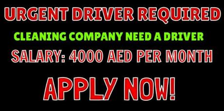 CLEANING COMPANY NEED A DRIVER