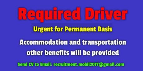 Driver Required Urgent for Permanent Basis