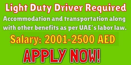 Light Duty Driver & Heavy Bus Driver Required
