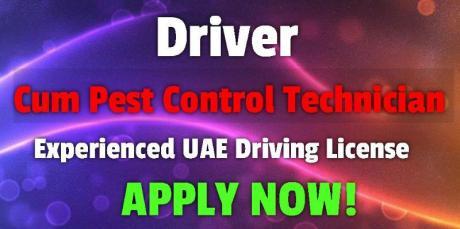 Driver Cum Pest Control Technician