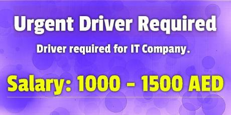 Urgent Driver Required