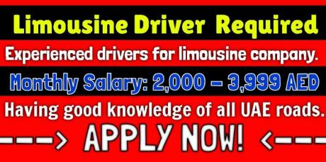 Limousine Driver Required
