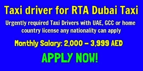 Taxi driver for RTA Dubai Taxi
